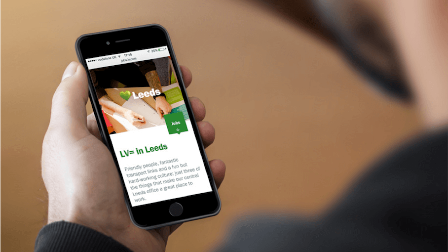 LV= Careers Smartphone View | Careers Website | Our Work | That Little Agency