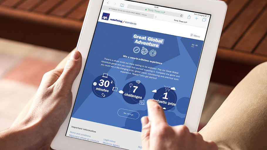 That Little Agency - Employer Branding - Our Work - Recruitment Campaign - AXA GGA Game 3 Image