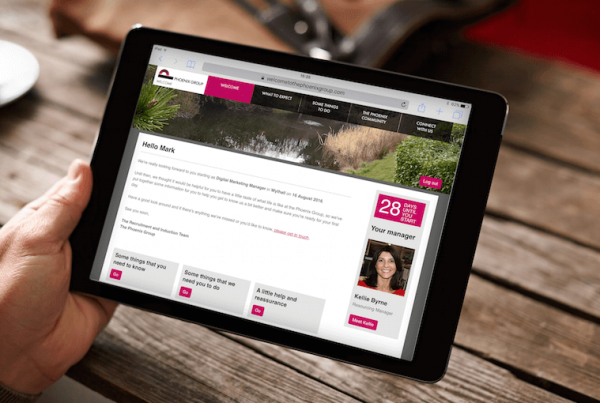 Phoenix Group Tablet View | Onboarding Website | Our Work | That Little Agency