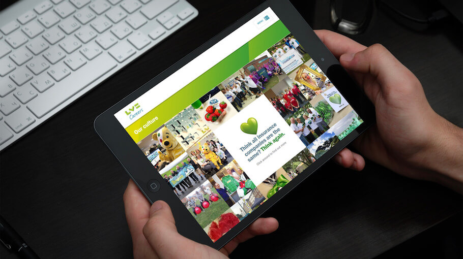 That Little Agency | Our Work | Careers Websites | LV= Tablet Landscape Image