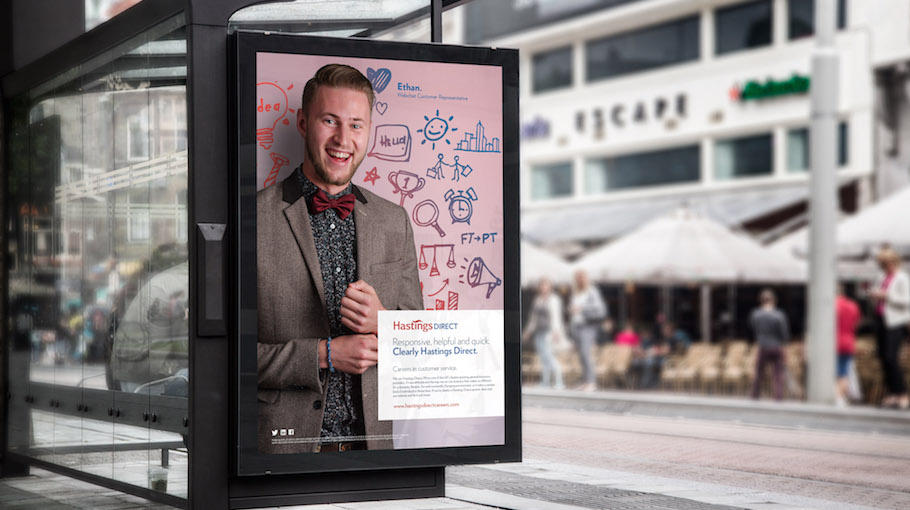 That Little Agency | Employer branding | Hastings Direct | Outdoor Advertising
