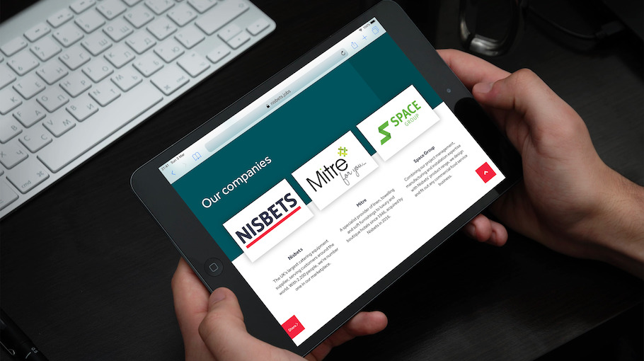 That Little Agency | Employer Branding Agency | Our Work | Careers Websites | Nisbets Tablet Image