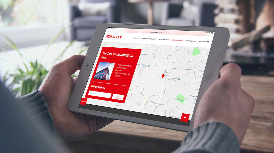 That Little Agency | Employer Branding | Careers Website | Wolseley Careers Website Blog on Tablet Image