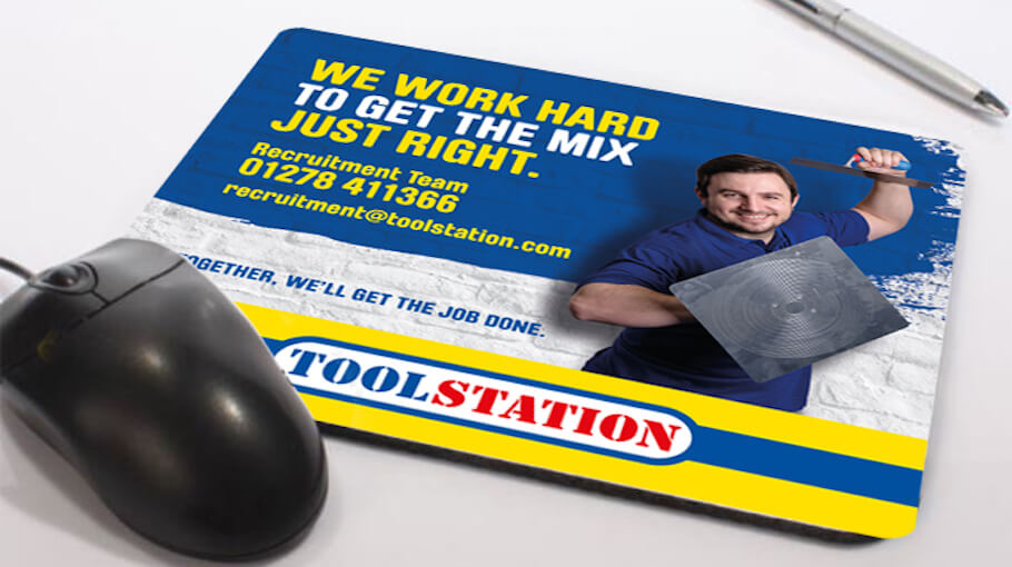 That Little Agency | Employer Branding Agency | Our Work | Employer Branding | Toolstation Mouse Mat Image