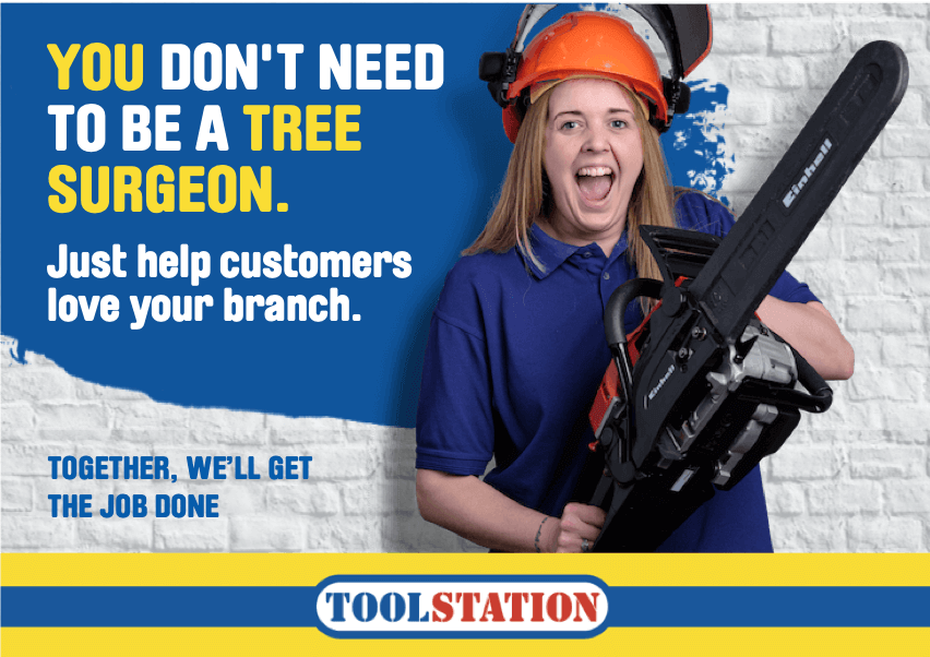 That Little Agency | Employer Branding | Our Work | Toolstation Employing Branding | Recruiter Identity Image