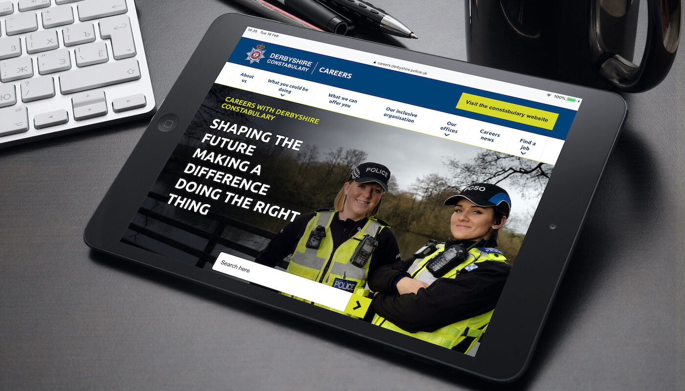That Little Agency - Employer Branding - Careers Website Development - Derbyshire Constabulary Image
