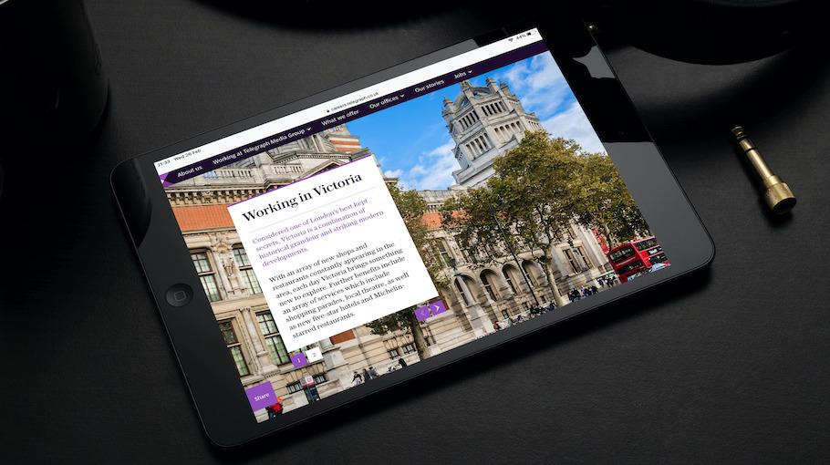 That Little Agency - Employer Branding - Careers Website - Telegraph Media Group - Tablet Image 2