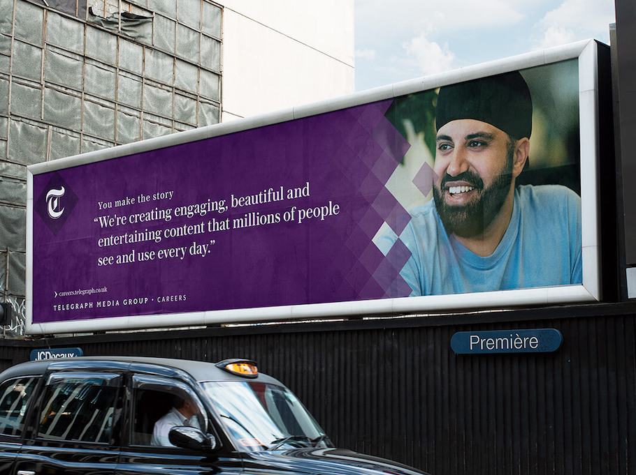 That Little Agency - Employer Branding - Telegraph Media Group Employer Brand Billboard Image