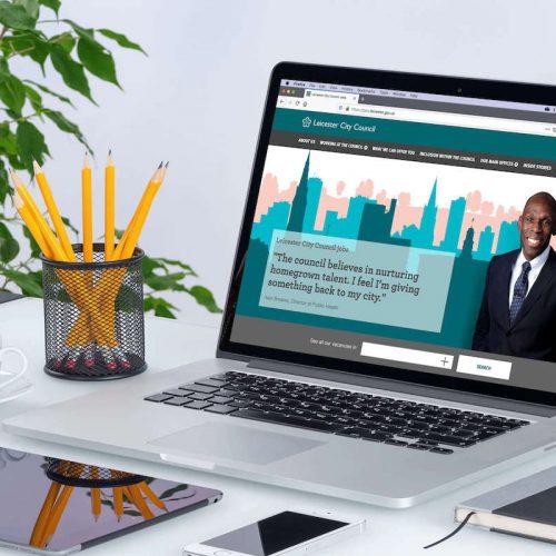 That Little Agency - Employer Branding - Careers Websites - Leciester City Council Jobs Hero Image